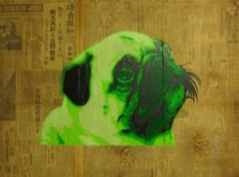 24 x 18 in. Acrylic, spray & mixed media on wood $550.00