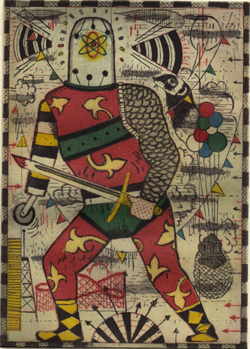 """5 color etching on German etching paper 5"""" x 7"""" unframed (edition of 45) $1,500.00"""