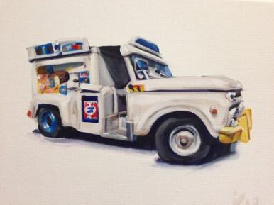 """Acrylic on canvas 12"""" x 9"""" $1,000.00"""