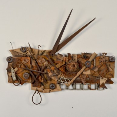 21 x 24 x 4 in. Mixed media found objects $750.00