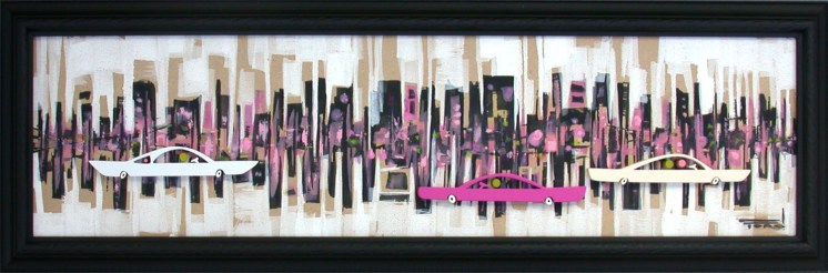6 x 23.5 in. / 8.25 x 26 in. frame, Acrylic on cut and shaped masonite $600.00 Sold