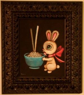 8 x 10 in. (20.5 x 25.5 cm) / 13.5 x 15.5 in. framed (35cm x 39.5cm framed) Acrylic on canvas board $425