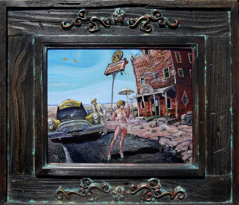 12.375 x 9.75 in. / 19.375 x 16.375 in. framed, Oil on masonite $400.00 Sold