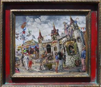 17 x 14 in. / 23 x 20.25 in. framed, Oil on masonite $900.00 Sold