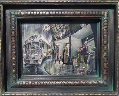 10 x 14 in. / 20 x 16 in. framed, Oil on masonite $550.00 Sold