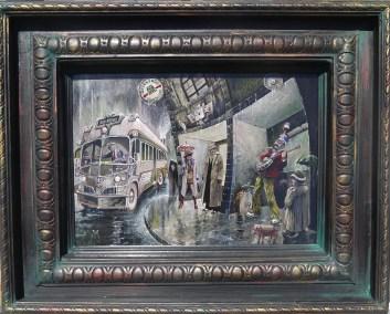 10 x 14 in. / 20 x 16 in. framed, Oil on masonite $550.00 Sold