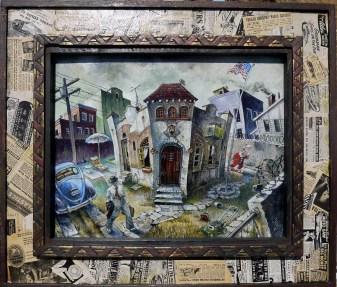14 x 11.375 in. / 19.75 x 17 in. framed, Oil on masonite $650.00 Sold