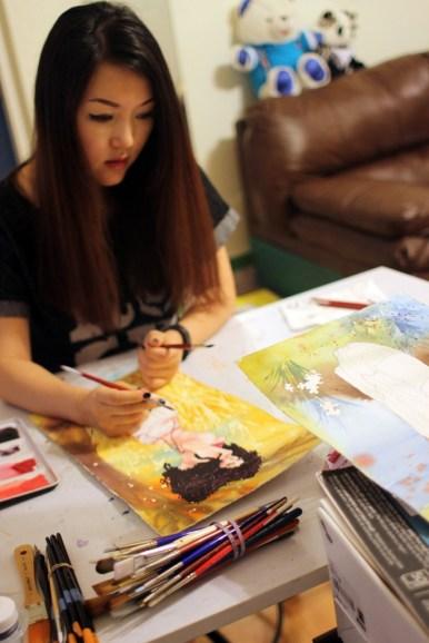 Danni Shinya Luo in her studio