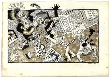 First Underground Comix Work of Joe Coleman; Final Days of Paul John Knowles, 1988 Ink on paper 7 x 10 in. $5,000