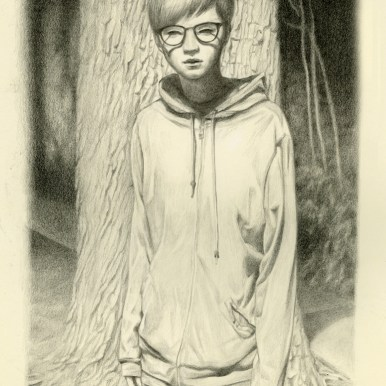 Graphite on moleskin paper 11 x 6.5 in. $600 Sold