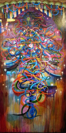 Acrylic on panel, 48 x 96 in. $12,000.00