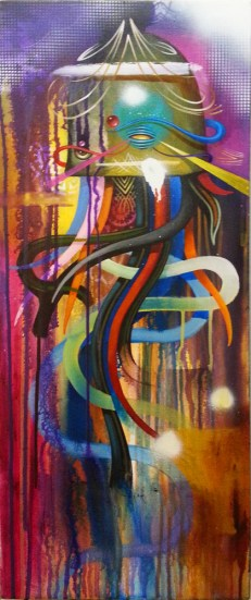 Acrylic on canvas, 12 x 30 in. $1,500.00