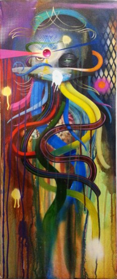 Acrylic on canvas, 12 x 30 in. $1,500.00 Sold