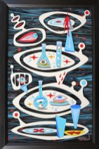 Acrylic on cut and shaped masonite, 14 x 22 in. (plus frame) $2,500.00