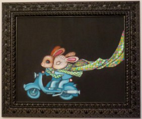 Acrylic on canvas, 20 x 16 in. (plus frame) $875.00