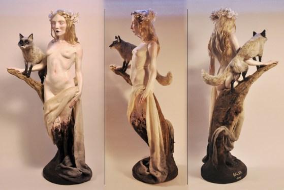 Multimedia sculpture, 13 x 6 x 6 in. $700.00