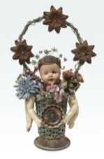 Mixed media assemblage, 18.5 x 11.5 x 6 in. $525.00