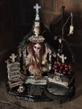 Mixed Media Taxidermy Assemblage, 12 x 13.5 x 10 in. $2000.00 Sold