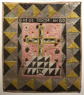 Fabric, sequins, and beads, 32.5 x 36 in. $1,200.00