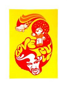 Saiman Chow - Love RuleSilkscreen print (edition of 30), 23 x33.25 in. $80
