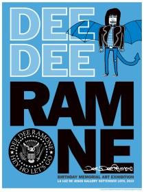 Dee Dee Ramone - Hey Ho Let's GoSilkscreen print (edition of 150) signed by designer Lex Pelle, 18.5 x 24 in. $75