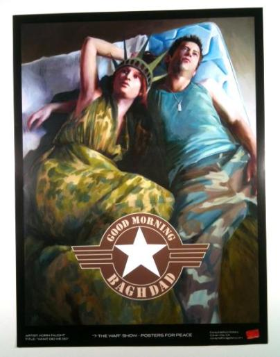 Korin Faught - What Did We Do War-showGlossy poster, 18 x 24 in. $20
