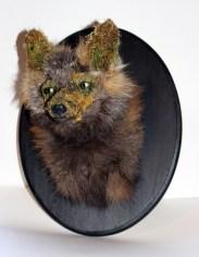 Fox Skin, flora, glass, Wood, mixed media. 14 x 11 9.75 in. $1,100.00