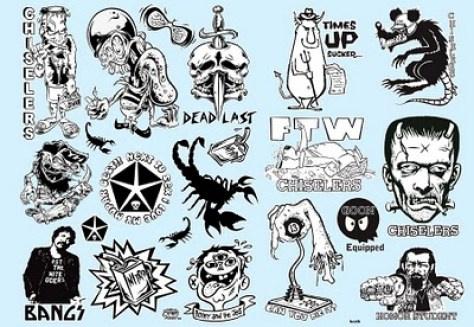 Kozik and Dirty Donny - Waterslide DecalWater-slide decal sheet (edition of 100) 20 x 13 in. $60