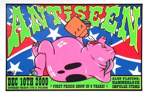 Frank Kozik - AntiseenSilkscreen print, 22.5 x 35 in. $40