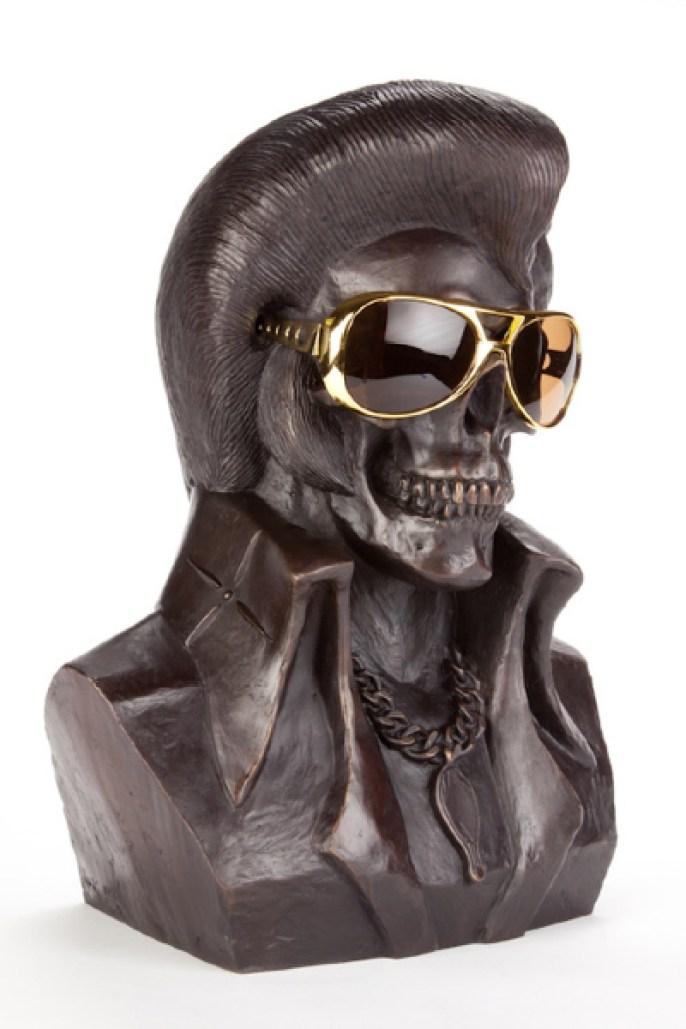 Kozik - The King Is DeadSigned #5/22 Bronze (plastic glasses), 13x15x7.5 in. $4,000