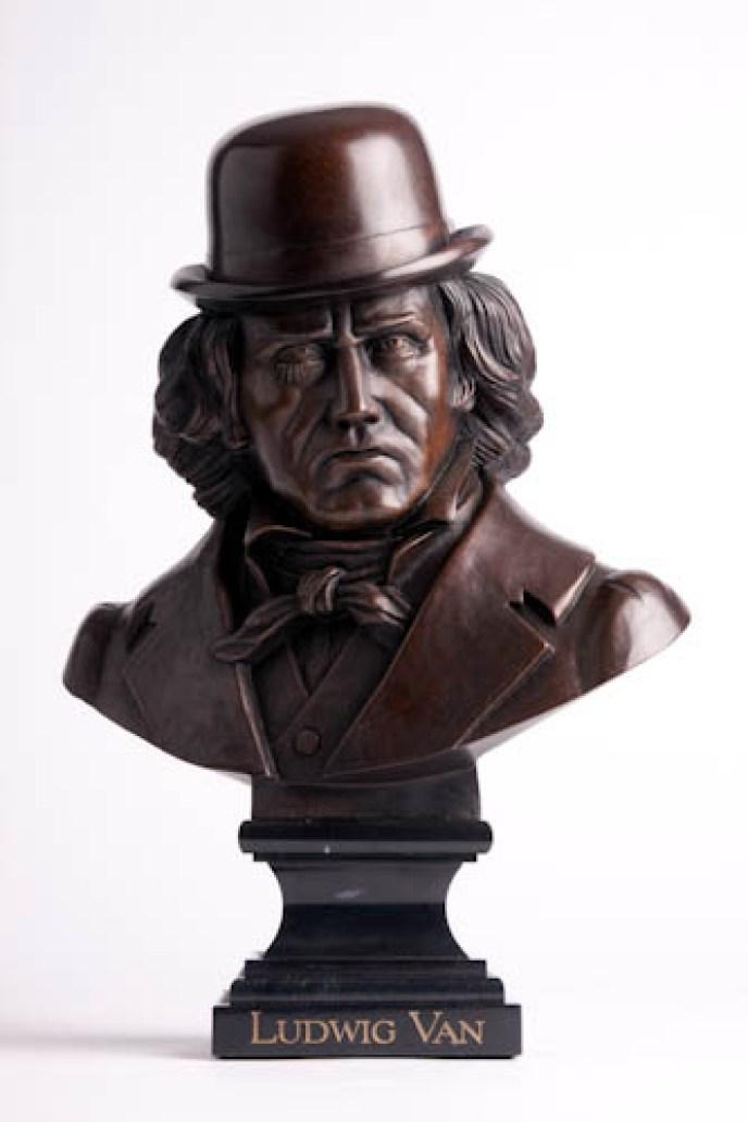 Kozik - Ludwig VanSigned #15/20 Bronze, 13x15x7.5 in. $7,000