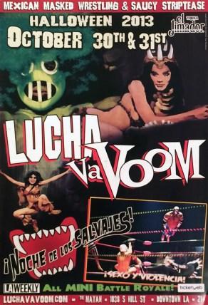 Lucha Va Voom - Halloween 2013lightweight gloss poster, 12 x 18 in. $15
