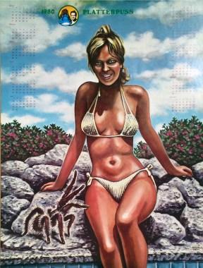 Neon Park - Platterpuss Calendar (1980)Calendar from 1980, poster, 17.25 x 23 in. $20