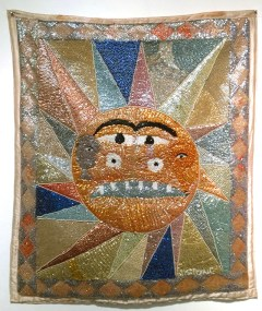 Fabric, sequins, and beads, 35 x 41.5 in. $1,000.00