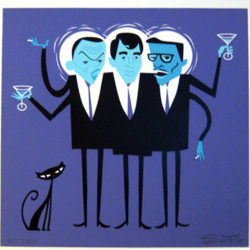 Shag - Three HipsterSilkscreen (edition of 250), 10 x 10 in. $350