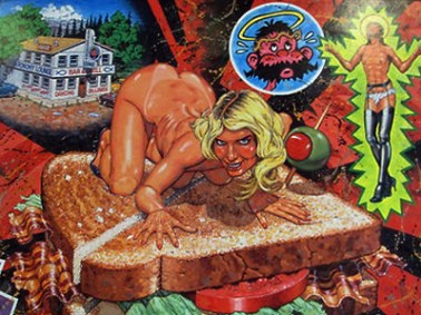 Robert Williams - Jezebel on a BLT Poster, unsigned, 21.5 x 18 in. $20