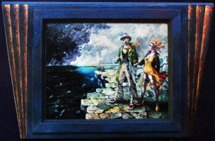 Oil on masonite in frame constructed by the artist, 12.5 x 9.5 in. (20 x 13 in. with frame), $400.00 Sold