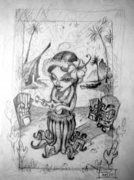 """graphite on paper, 9 x 11"""" in 13 x 15"""" frame $300"""