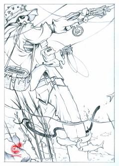 Chris B. Murray - Long Gone Fishing Sketch