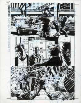 """INCOGNITO (2008) - Ed Brubaker & Sean Phillips, Issue #1, Page 8: Overkill Origins, Ink and blue-line on board 11"""" x 17"""" $700"""