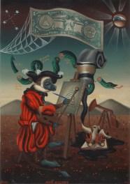 Matthew Couper - Dead HistoryOil on metal, 8 x 11 in. (12 x 15 in. framed), $1,300