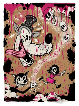 Frank Forte - Molly's Nightmaresfour-color silk screen print signed and numbered by the artist Frank Forte with a thumbprint on the back for authentication, printed on 140 lb. paper stock, (edition of 50), 12 x 18 in. $75