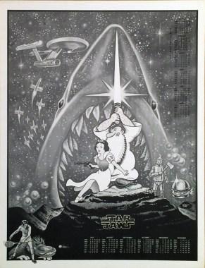 Neon Park - Platterpuss Calendar, 1978, Star JawsCalendar from 1978, poster, 17.5 x 22.5 in. $50