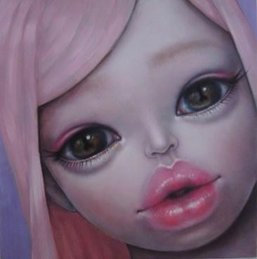 Mayuko Nakamura - Look Into My EyesOil on wood, 8 x 8 in., $600