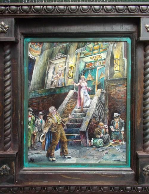 "Harold Fox - Blue Hawk Oil on masonite. 11x14"" in 17x20"" custom frame $850 Sold"