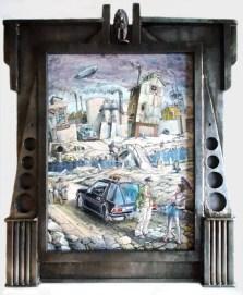 """Harold Fox - Old River Park Oil on masonite. 13.75x12"""" in 20.5x16.25"""" custom frame $850 Sold"""