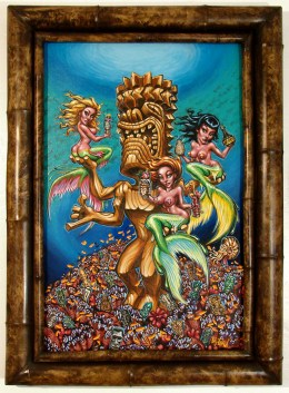 "Big Toe - Mondo TikiAcrylic on panel, 24x36"" (32x43"" framed), $2,400 Sold​"