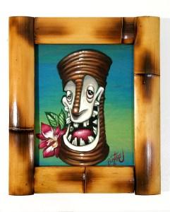 "Big Toe - Party BobAcrylic on panel, 8x11"" (12x14"" framed), $300"
