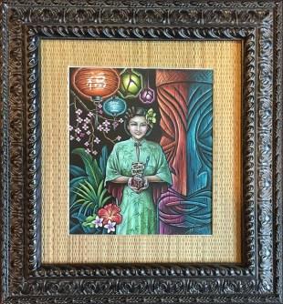 "Doug Horne - Zen Garden of PolynasiaPencil on paper, 19x22"" $600"
