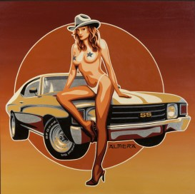Marco Almera - SS Cowgirl Acrylic on canvas, 30x30 in. $1800